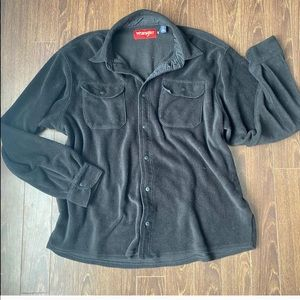 Oversized Black Wrangler Flannel